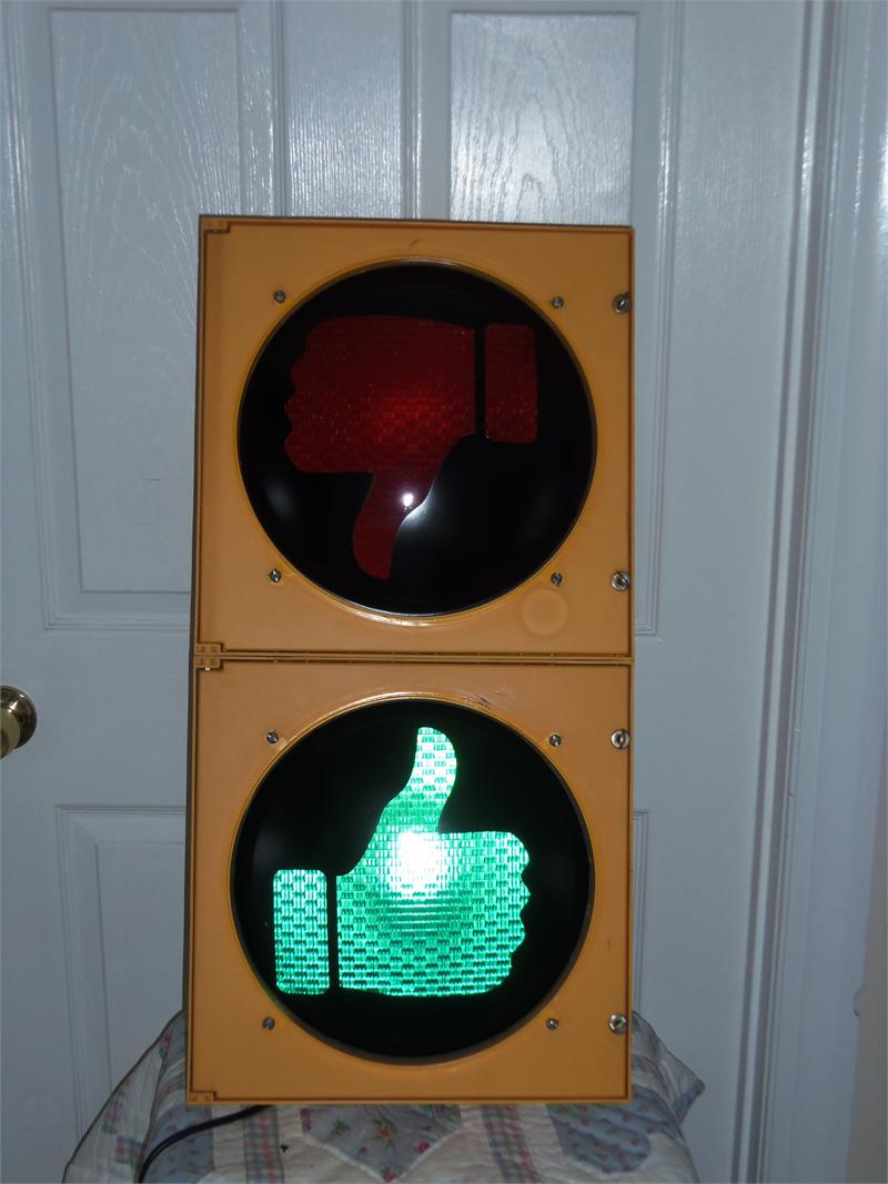 Traffic Light With Open Closed Lenses